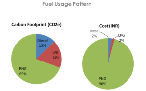 Meluha the Fern Fuel Usage Footprint and Cost